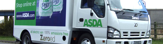 Asda.com's first Zeroed vehicle.